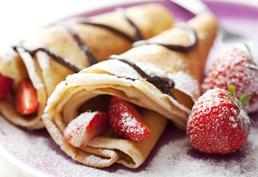 Sweet Strawberry Crepes recipe