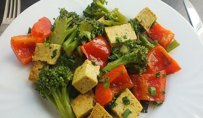 Fat-Free Tofu with Curry and Vegetables recipe