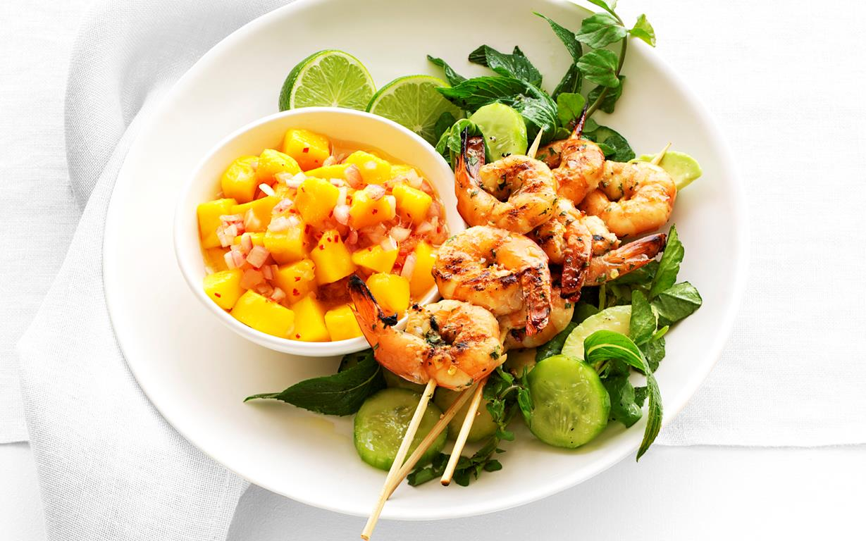 Unbelievable Prawns with Mango Sauce recipe