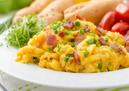 Morning Scrambled Eggs with Bacon recipe
