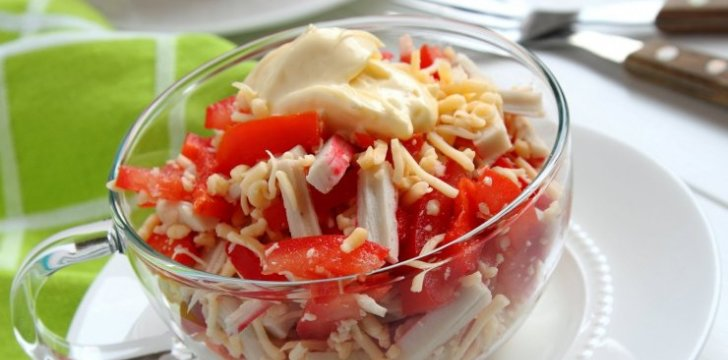 Crab Salad with Cheese recipe