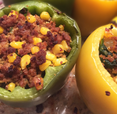 Wonderful Ground Turkey Stuffed Peppers recipe