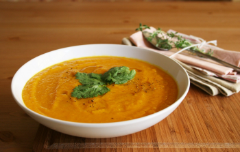 Mashed Carrot, Orange and Ginger Soup recipe
