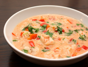 Creamy Vegetable and Prawn Soup recipe